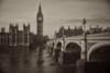 Westminster (Pinhole 1) (OzzRod) Tags: pentax k1 pinhole homemadepinhole bridge thames river westminster clock tower bigben parliament london monochrome sepia