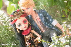 Lizzie Hearts e Alistair Wonderland, EAH (Osmundo Gois) Tags: ever after high doll boy male toy girl famale alistair wonderland lizzie hearts mattel tattoo custon