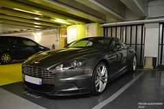 Aston Martin DBS (Monde-Auto Passion Photos) Tags: auto automobile astonmartin aston martin dbs coupé gris parking france paris sportive supercar