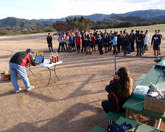 067 Reading Out The Winners (saschmitz_earthlink_net) Tags: 2017 california orienteering vasquezrocks aguadulce losangelescounty laoc losangelesorienteeringclub