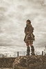 Something's coming (No Stone Unturned Photography) Tags: abandoned desert wasteland concrete structure industrial cosplay costume mad max fallout post apocalyptic apocalypse survivor girl hdr machinery effects clouds storm