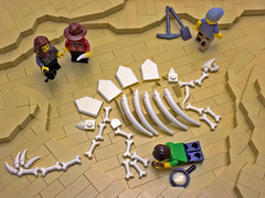 A Bad Day, 65 Million Years Ago (cmaddison) Tags: lego fossil bones dinosaur dino stegosaurus archaeology