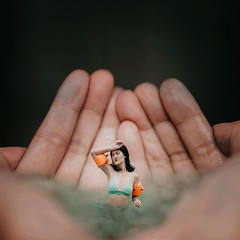 188/365 Sink or Swim (Katrina Y) Tags: surreal surrealphotography artsy moody creative miniature selfportrait portrait handsinframe hands 365project 2017 swim