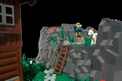 Seidnitzer Hütte_10 (TobyDe) Tags: lego alpen alps berghütte alpinehut wanderer hiker wandern hiking kuh cow bergziege mountaingoat ziege goat hund dog österreich austria höhle cave fluss river bergwiese wiese mountainmeadows meadow minifiguren minifigures legominifiguren legominifigures collectableminifigures skelett skeleton