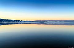 lake kochel (lichtauf35) Tags: kochelsee bluehour lastdaylight reflection shorttrip bavaria sl1 wide waterreflection colorful colouredsky kindsofblue 1000views lichtauf35