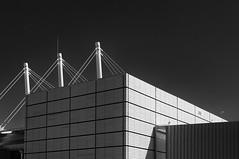 04052016-_ARA1420-Editar (Antonio Aradas) Tags: lines bn bw lineas straps tirantes building edificio street city