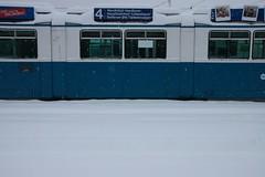 tram in the snow (Dreamer7112) Tags: winter snow 20d schweiz switzerland europe suisse ttc canon20d zurich tram canoneos20d snowing zrich svizzera trams winterwonderland eos20d zurigo vbz latemarchsnow recordsnowfall