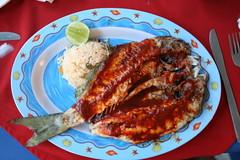 pescada a la talla (TrekkerPanda) Tags: food fish dinner mexico mexicanfood mexican oaxaca platter huatulco lacrucecita spanishcolony fishdinner oaxacanfood bahiashuatulco