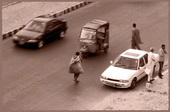 Alone-in-Karachi (Edge of Space) Tags: old walking alone loneliness 80s karachi endless