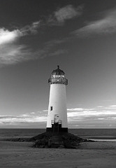 Talacre Lighthouse (Stu Worrall Photography) Tags: sea bw lighthouse white black beach wales canon 350d seaside north mostinteresting talacre sigma1850mmf28ex stuworrall stuartworrall artofimages bestcapturesaoi