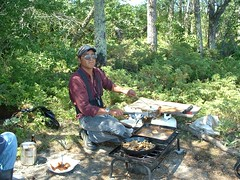 Fish Fry (bigfuzzyjesus) Tags: lake fish canada fry woods walleye