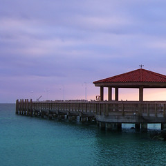 Pier, Key West (bentilden) Tags: ocean sky usa color beach water birds topv111 pier florida keywest