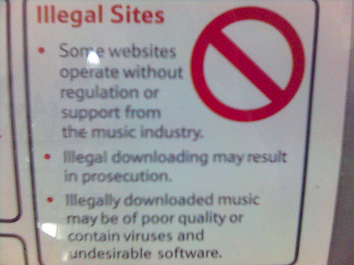 Illegally downloaded music may be of poor quality