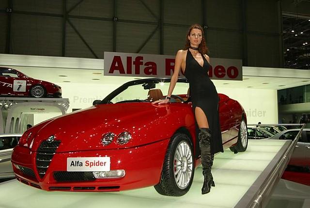 auto car spider alfa romeo series2003