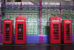 Clark Kent moment (zakgollop) Tags: uk red england london 510fav colorful phone unitedkingdom colourful smithfield clerkenwell farringdon phonebox ec1 phoneboxes pelmanism 5hits