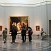 Tourists viewing Goya's Royal Family