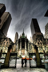 st patricks, gate (Automatt) Tags: nyc sky ny newyork skyline buildings dark hotel gate cathedral manhattan taxi courtyard palace stpatricks hdr clustershot qoop06 fave100 gettypick