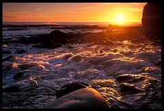 Shipman Creek Sunset, Lost Coast Backpacking (Buck Forester) Tags: ocean california sunset sea seascape beach nature creek landscape coast fuji pacific hiking velvia pacificocean backpacking wilderness lostcoast kingrange velvia50 shipmancreek