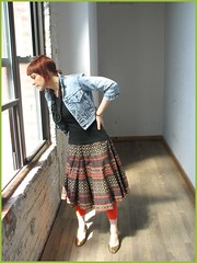 3.31.2006 (bitsandbobbins) Tags: selfportrait fashion wardroberemix vintage shoes thrifting denimsoul