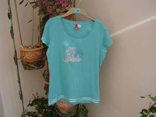 Blue Bunnies T-Shirt (Size 14)
