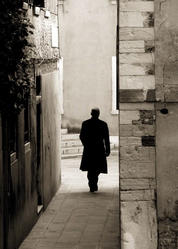 Walking alone Venice