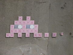 Space Invader PA_405 : Paris 15eme (tofz4u) Tags: pink streetart paris rose tile mosaic spaceinvader spaceinvaders invader 75015 mosaque artderue carrelage pa405