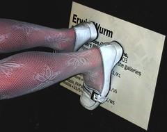 Step on a Tag (omalingue) Tags: stockings label tag bas erwin cartel artfair whiteshoes chaussures blanches wurm artbasel stepon 222v2fav