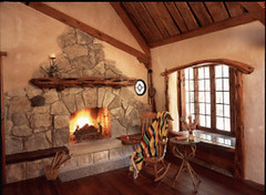 Fireplace (Gary Zuker) Tags: house building home architecture fireplace straw plaster clay cob hobbit nook windowbox strawhouse strawclay