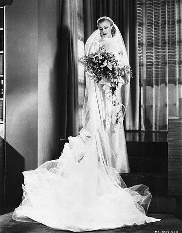 Ginger Rogers in her wedding dress