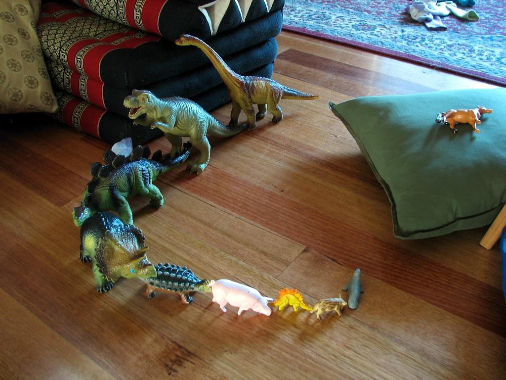 Dinosaur conga