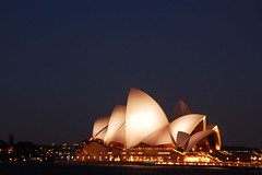 sydney opera house - at night - by Chewy Chua