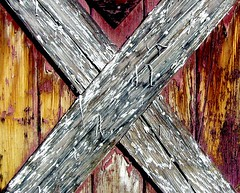 X (See El Photo) Tags: door 15fav closeup barn cool peeling paint x barndoor 1f xmarksthespot faved