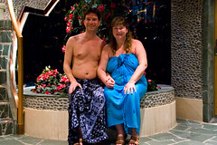 Kevin & Debbie in the Isolabella Lounge (SunCat) Tags: travel cruise vacation woman me friend girlfriend couple kevin all bare bbw wrap spouse ladolcevita wife debbie sweetheart lover mate companion vacations sarong soulmate suncat pareo necessities braless costamediterranea barenecessities nudecruise confidante so