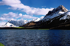 Fairy Land (meansmuchtome) Tags: china blue pakistan sky white lake snow green ice water clouds glacier waters pamir pamirs shimshal minglisir