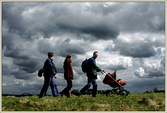 Esther, Laura, Wouter, Rob ( - s  ) Tags: sky baby laura clouds walking hiking wandelen walk wolken hike rob kind esther lucht buggy wouter pram wandeling top40 isthatapramorabuggyorwhatdoyoucallit yesiexaggeratedthosecloudsdigitallybuttheywereactuallythere