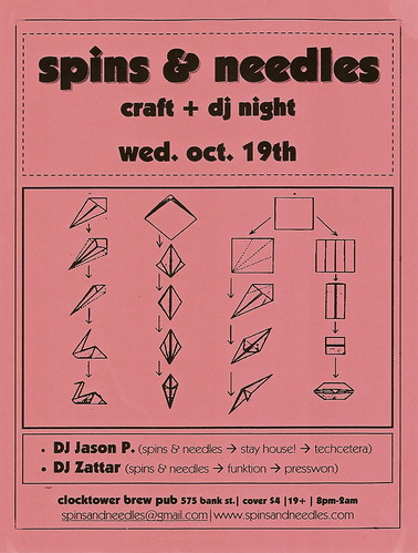flyer - spins & needles - october 2005