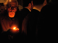Greek Orthodox Easter // 4 of 6 (Lady Vervaine) Tags: uk england man male london night easter greek glow candle christ cathedral britain faith religion flame christianity orthodox greekorthodox resurrection greekorthodoxeaster stsophia