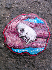 Ben's Chewing Gum Art - DSCN4226 (rahid1) Tags: road street streetart elephant macro london gum graffiti hand pavement chewinggum graff haringey muswell muswellhill chewinggumman coolpix3100 benschewinggumart benwilson 2050