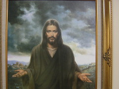 Jesus on the wall of the senior Home