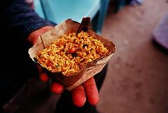 the great Iyengar Puliyogare!! (Vivek M.) Tags: india karnataka iyengar sanskrit melkote mandyam
