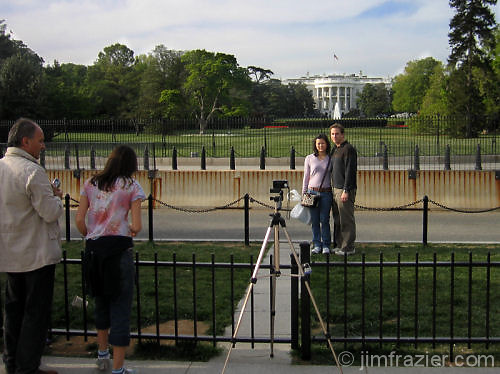 Tourists at the White House II