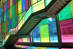 Palais des congres ([fokus]) Tags: canada reflection glass colors stairs colorful quebec montreal palace congress palais colourful palaisdescongres congres