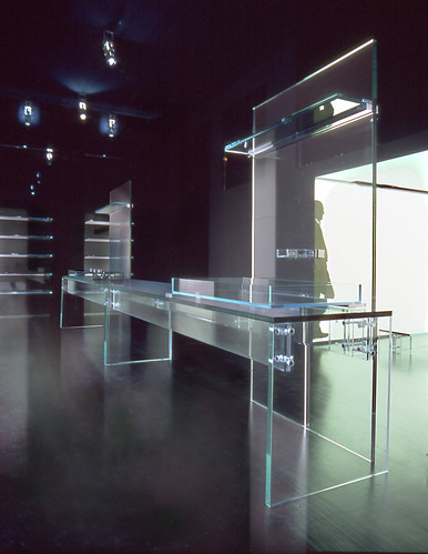 The glass Kitchen design