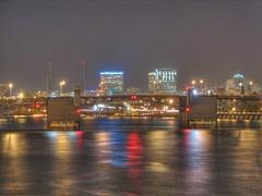 View from under Hawtrone Bridge (Like The Ocean) Tags: nightphotography bridge night portland wordpress hdr pshdr pscla