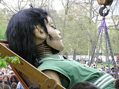 Another napper (bitospud) Tags: london girl face deckchair puppets asleep stjamesspark streettheatre royaldeluxe sultanselephant thesultanselephant