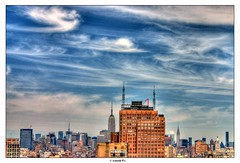 Painting the Sky (Arnold Pouteau's) Tags: nyc newyorkcity sky newyork clouds downtown manhattan midtown esb tribeca outsidethewindow hdr f25 50ms