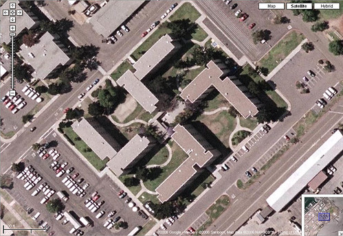 Google Map of Swastika-Shaped Building
