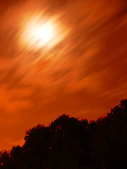 Tehran Night Sky 1 (Hamed Saber) Tags: red sky cloud moon black tree night clouds geotagged persian interestingness topv555 iran balcony topc75 topv444 persia saber iranian tehran  hamed  farsi      flickrexplore   topvaa   cm063