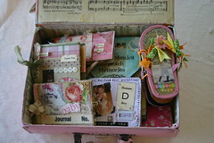 Suitcase full of Memories (fleamarketstudio) Tags: collage altered scrapbooking mini albums collageart keepsakes alteredart