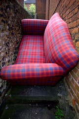 Comfortable seating position (Nick Harrison) Tags: house trash bag moving bin sofa tip rubbish